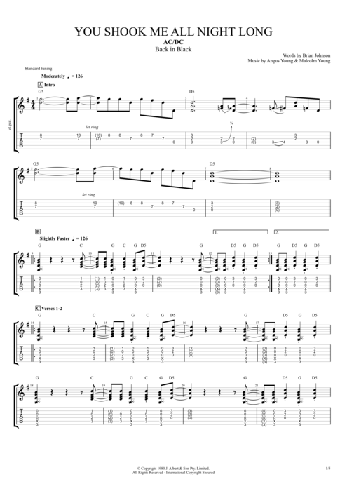 Guitar guitar tabs all of me : You Shook Me All Night Long by AC/DC - Full Score Guitar Pro Tab ...