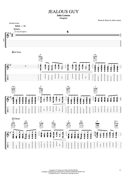 Guitar : guitar tabs imagine Guitar Tabs Imagine and Guitar Tabsu201a Guitar