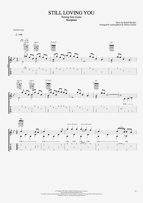 Still Loving You - Scorpions tablature