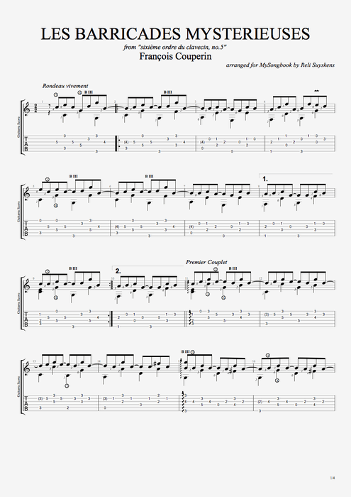 COUPERIN GUITAR PDF DOWNLOAD