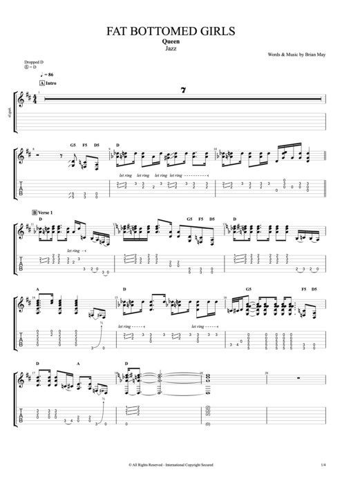 Bicycle: Bicycle Queen Bass Tab