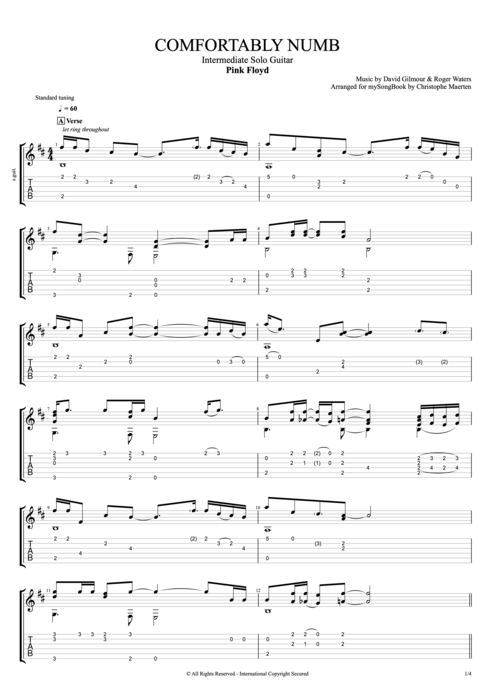 Guitar u00bb Guitar Solo With Tabs - Music Sheets, Tablature, Chords and Lyrics