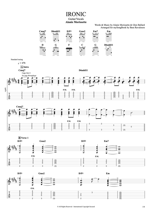 Ironic - Alanis Morissette tablature