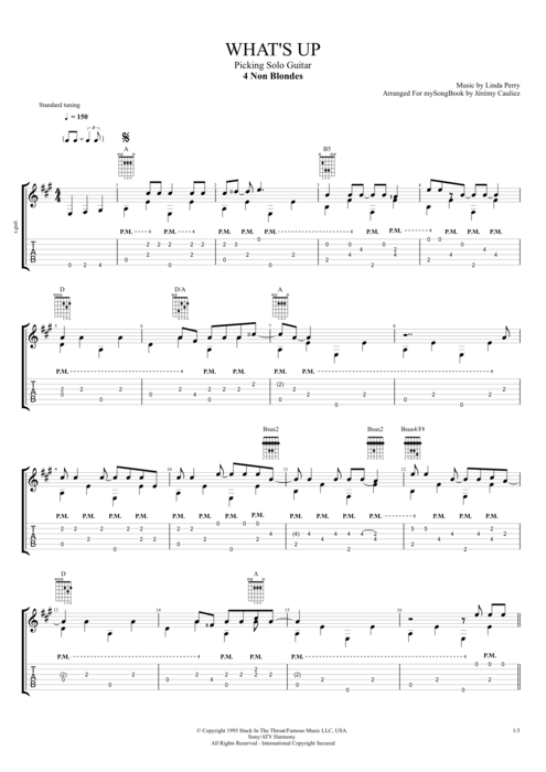 What's Up? - 4 Non Blondes tablature