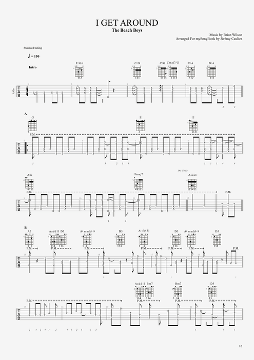 I Get Around - The Beach Boys tablature