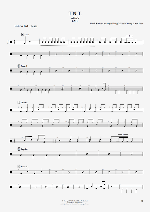 T.N.T. - AC/DC tablature