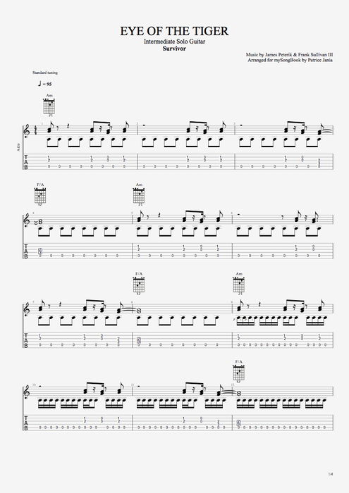 Eye Of The Tiger Guitar Chords