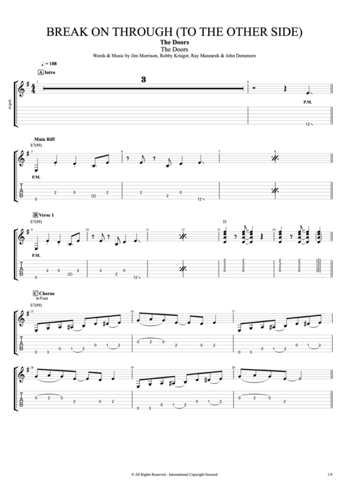 Break on Through (to the Other Side) - The Doors tablature