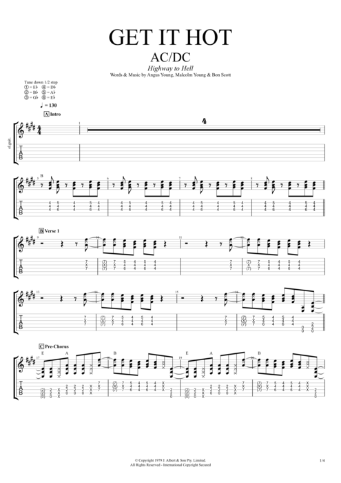 Get It Hot - AC/DC tablature