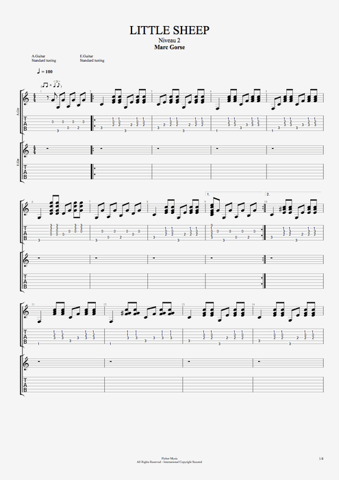 Little Sheep - Marc Gorse tablature