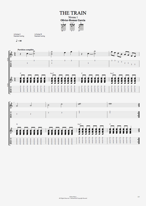 The Train - Olivier Roman-Garcia tablature