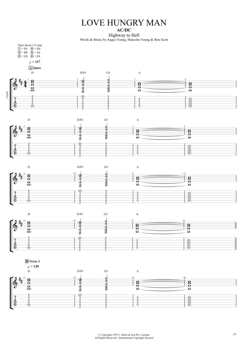 Love Hungry Man - AC/DC tablature