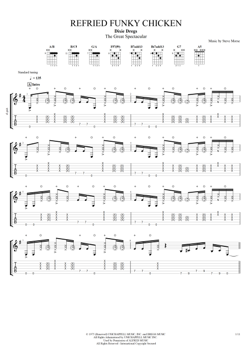 Refried Funky Chicken - Dixie Dregs tablature