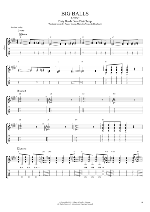 Big Balls - AC/DC tablature