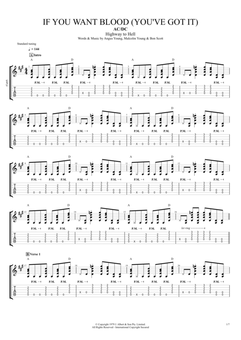 If You Want Blood (You've Got It) - AC/DC tablature
