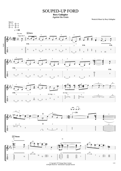 Souped-Up Ford - Rory Gallagher tablature