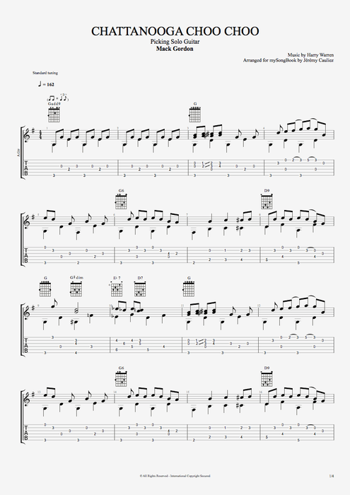 Chattanooga Choo Choo - Mack Gordon tablature