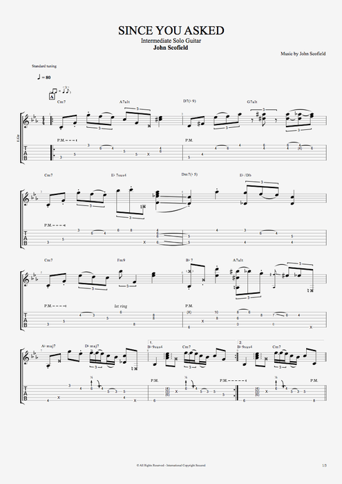 Since You Asked - John Scofield tablature