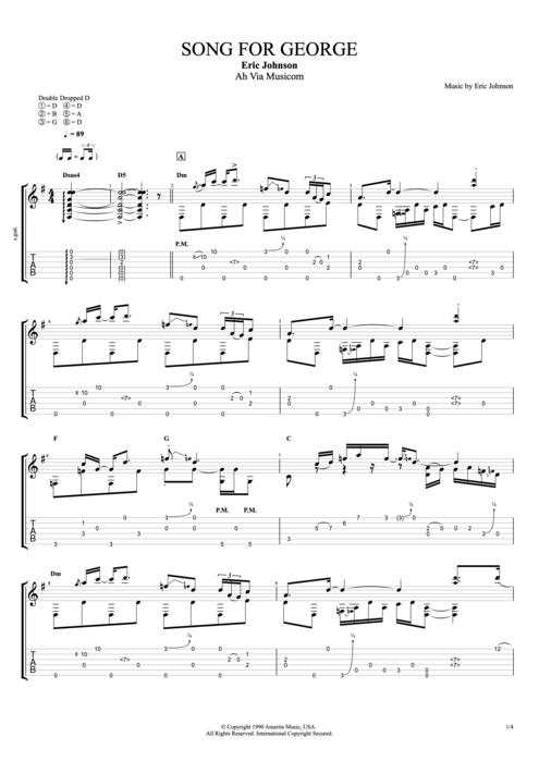 Song for George - Eric Johnson tablature