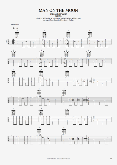 Man on the Moon - R.E.M. tablature
