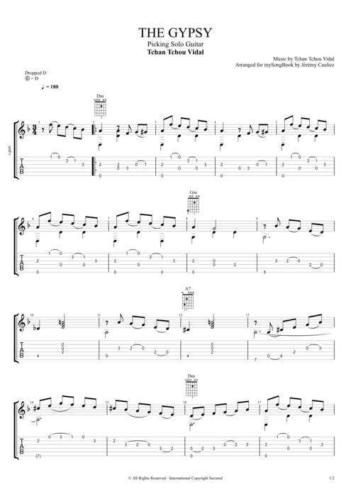 The Gipsy - Tchan Tchou Vidal tablature