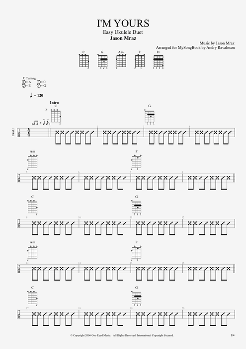 Im yours guitar chords