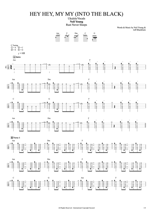 Hey Hey, My My (Into the Black) - Neil Young tablature